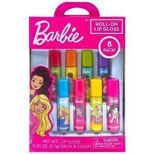 New Barbie Roll-on Lip Gloss fruit variety 8 pack